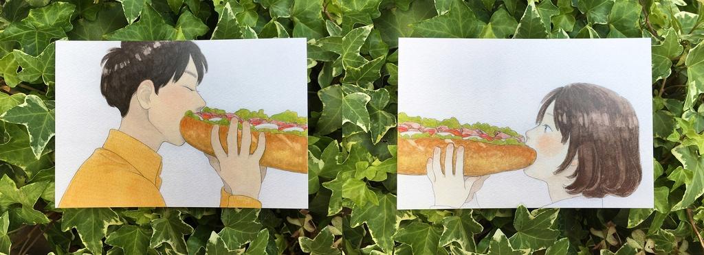 サンドイッチポストカード2枚セット