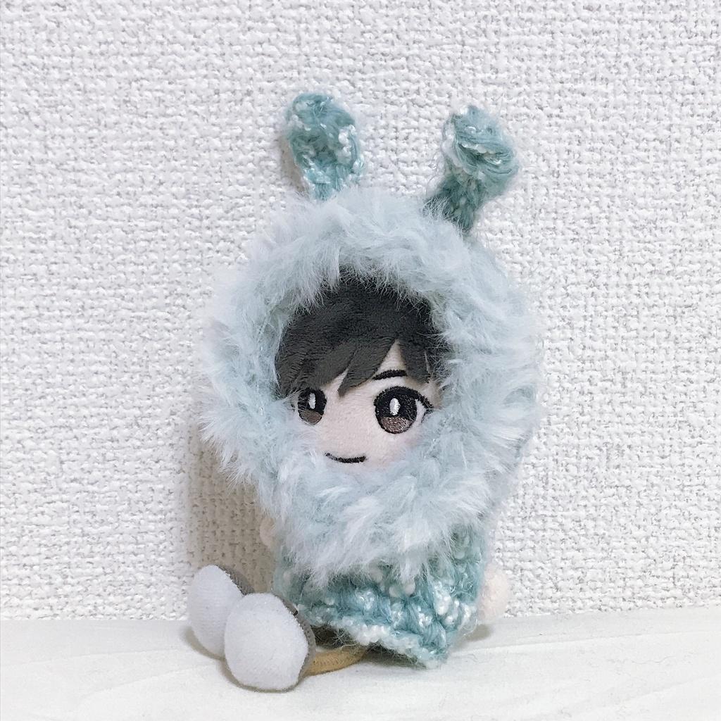 ぱぺっとチャーム用 もふもふブルーウサギ(冬毛)マント