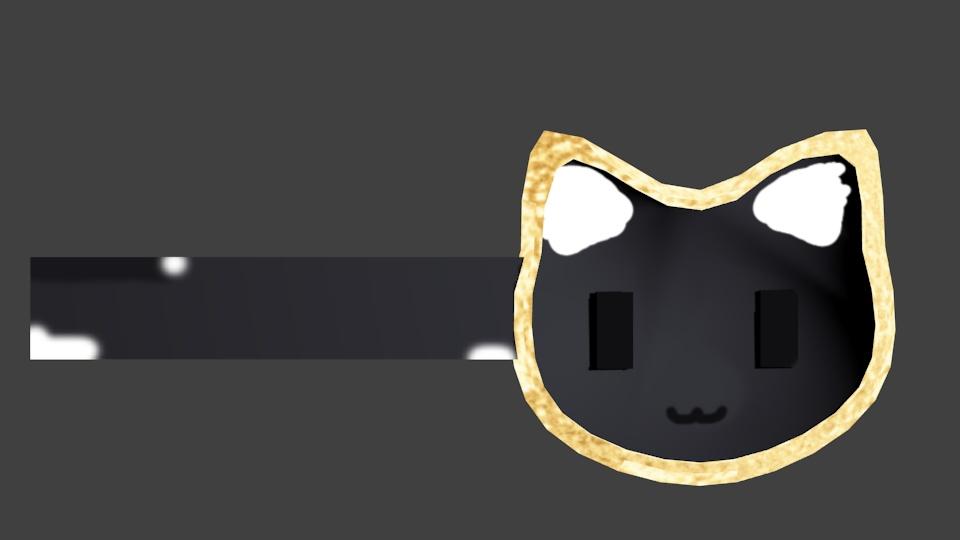 猫ヘアピン