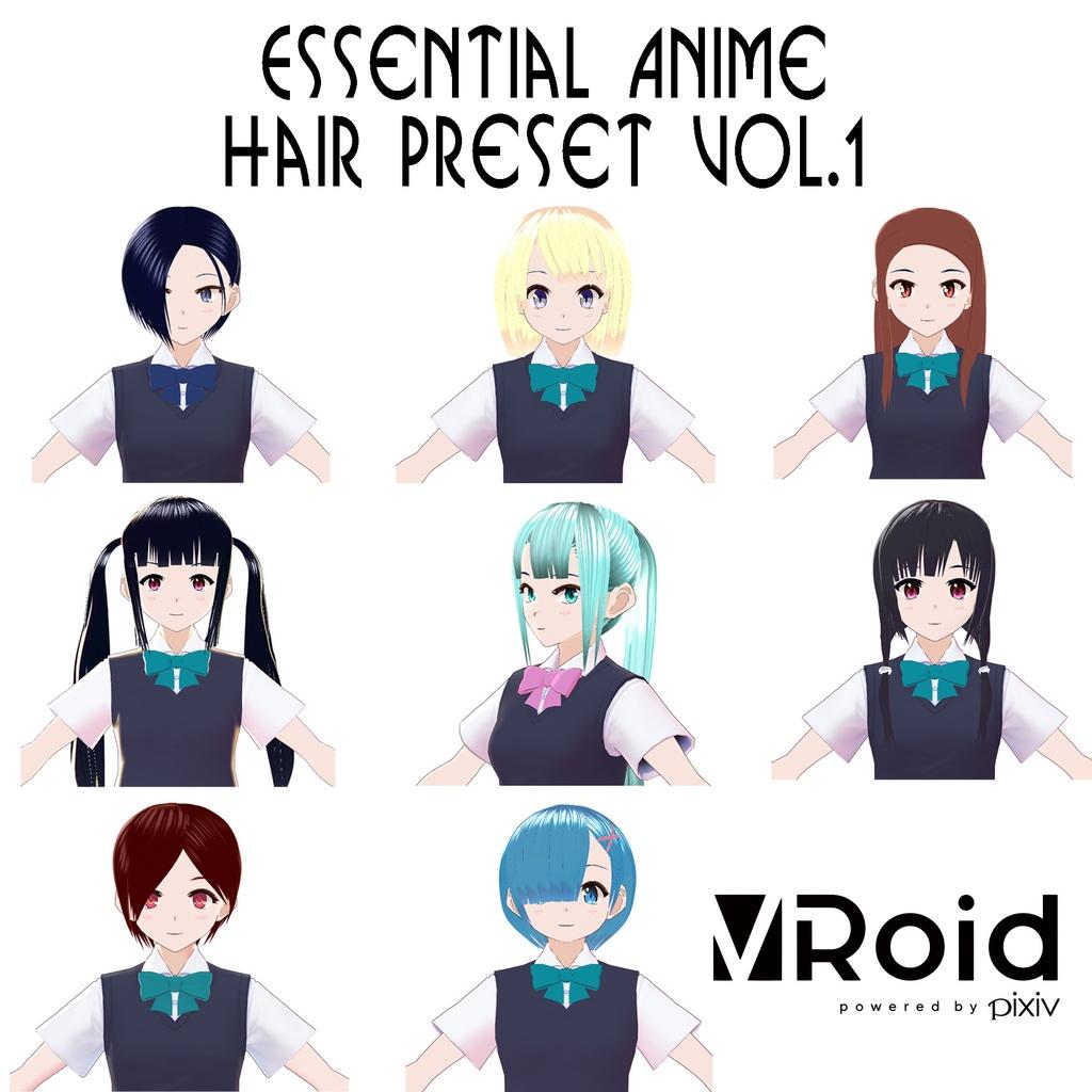 【VRoid】ヘアプリセットVol.1