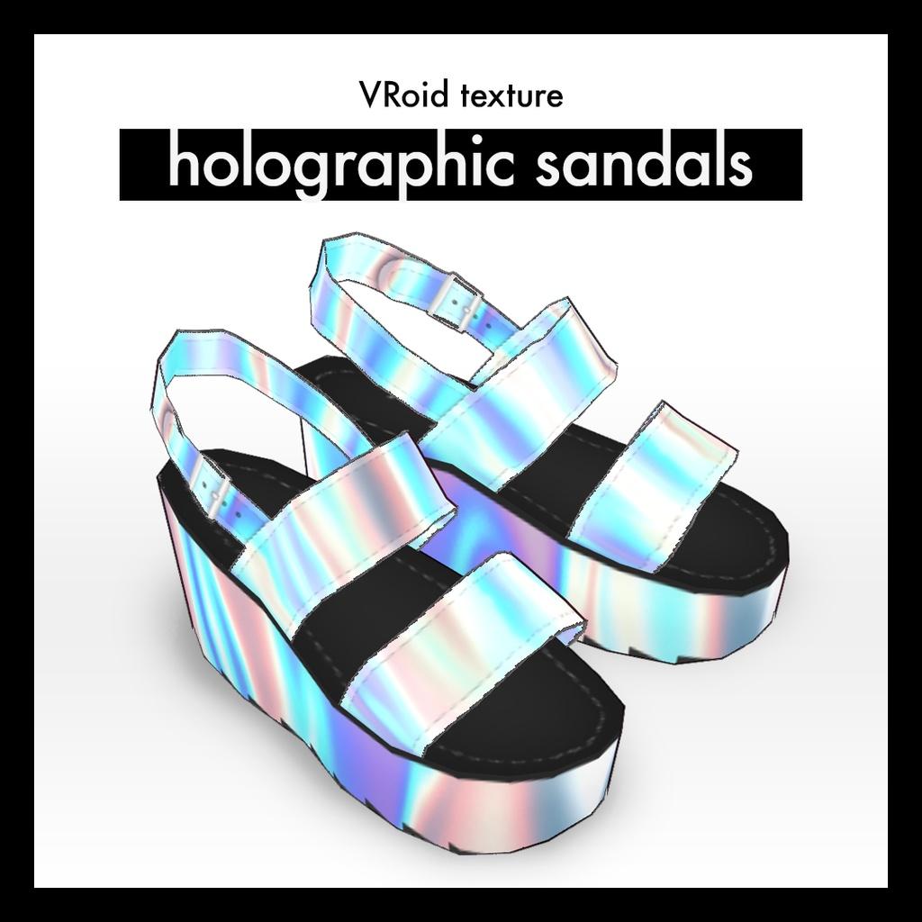 ホログラ厶風サンダル VRoid texture