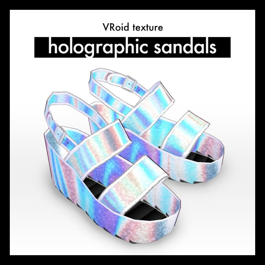 ホログラ厶風サンダル VRoid用テクスチャ