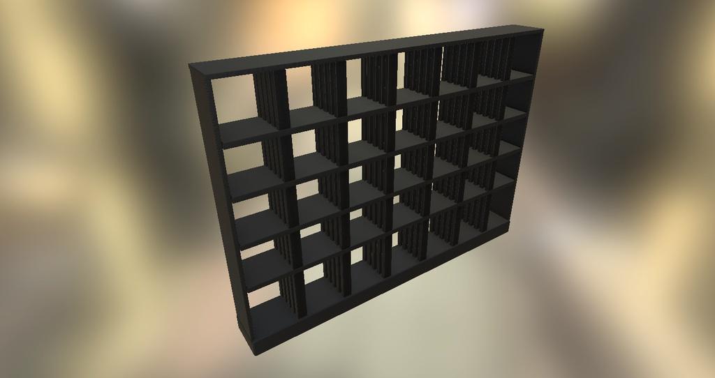 【UnityPackage】シンプルな棚 横仕切り可動【白黒2種】