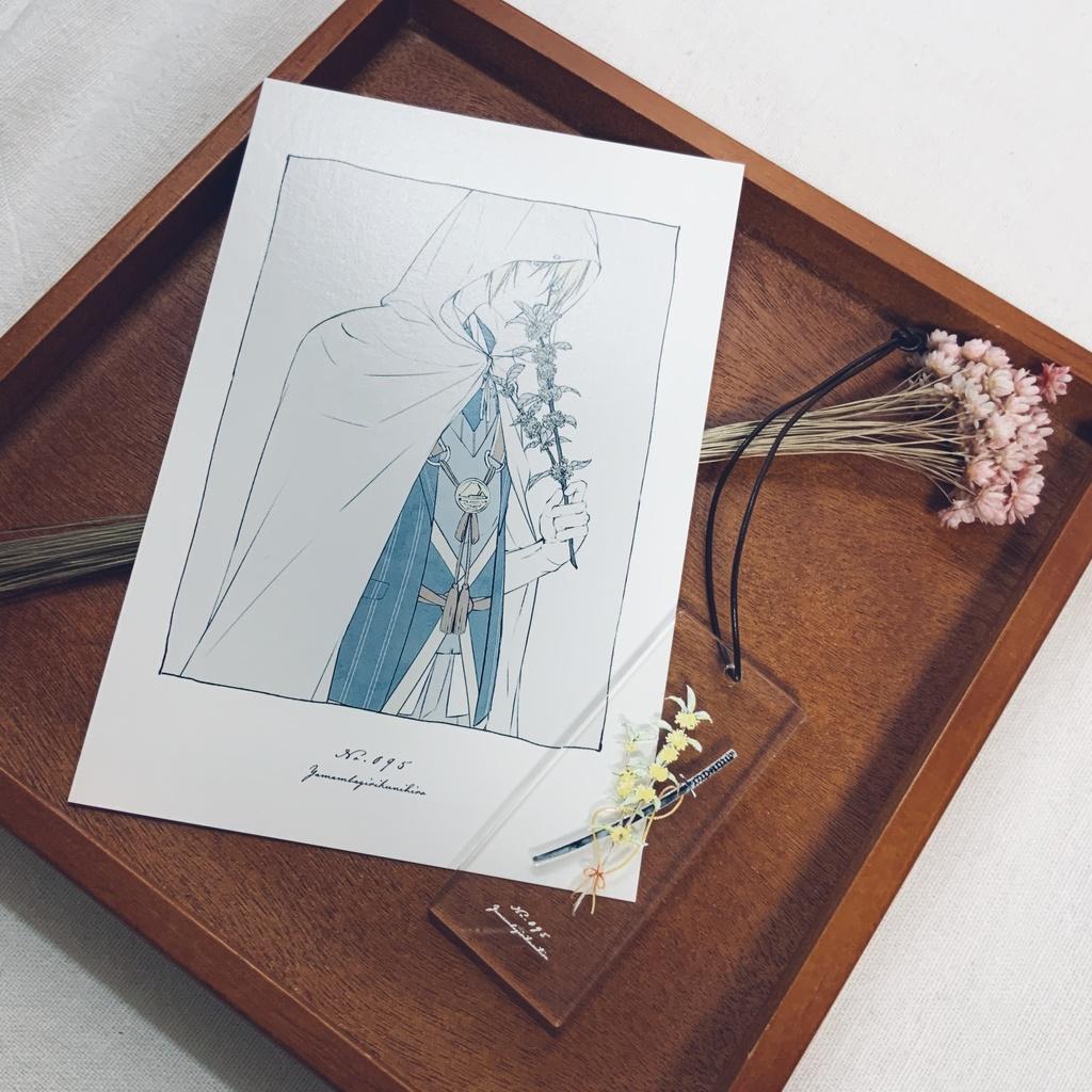 |花×刀剣男士|アクリルキーホルダー・イラストカードセット|