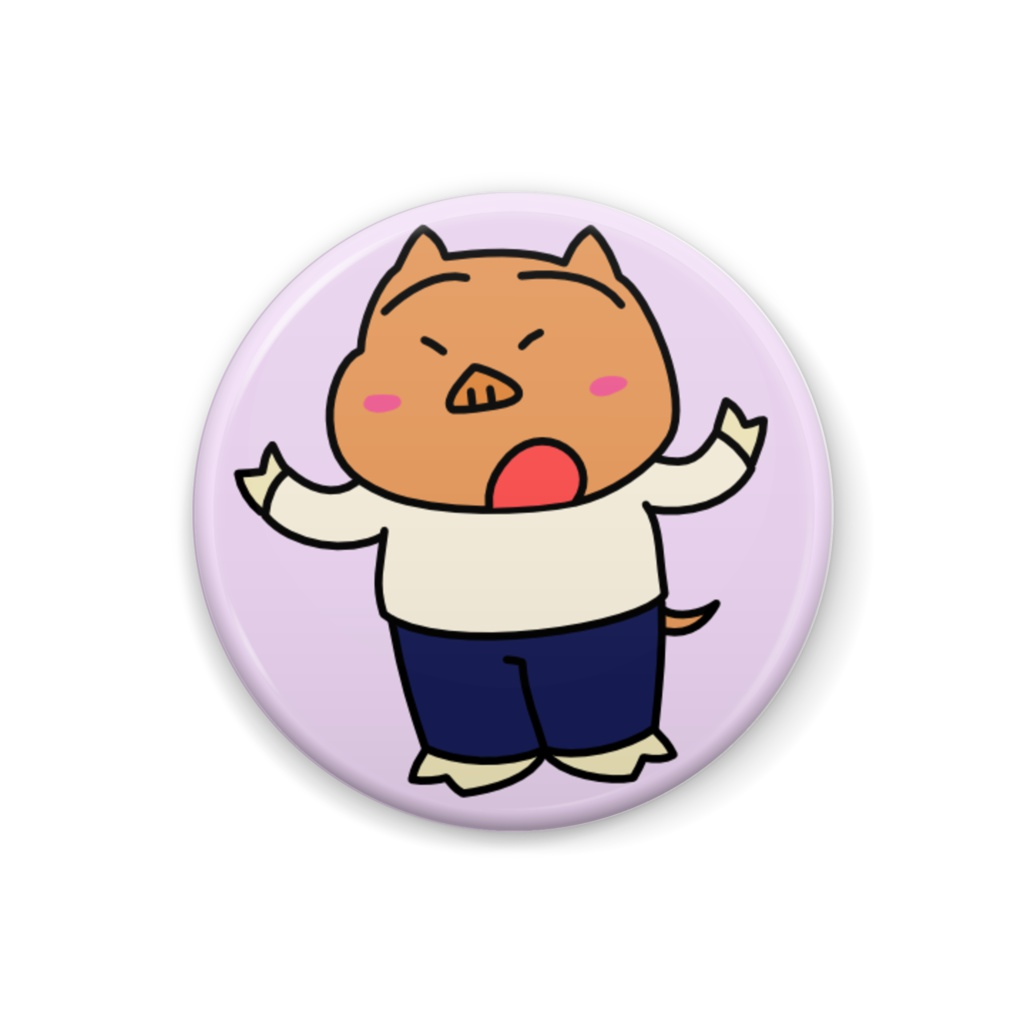 ダイダイのウマ・ダイちゃん 缶バッジ【トンちゃん】 - 32mm