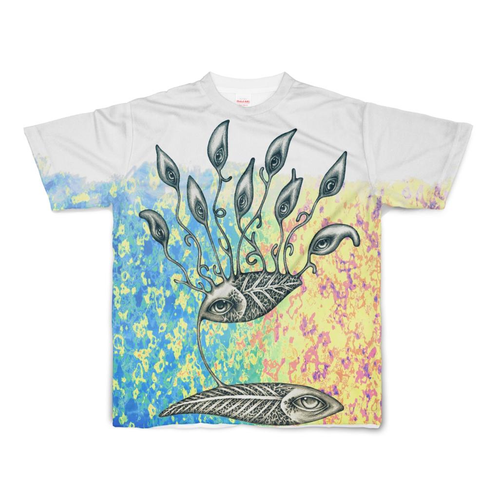 鉛筆魚色付きフルグラTシャツ