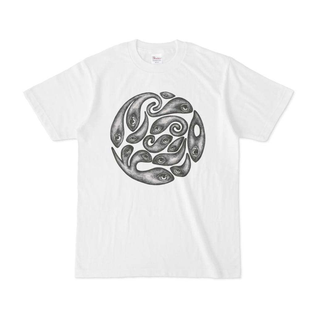鉛筆魚Tシャツ乱雑(値下げ版)