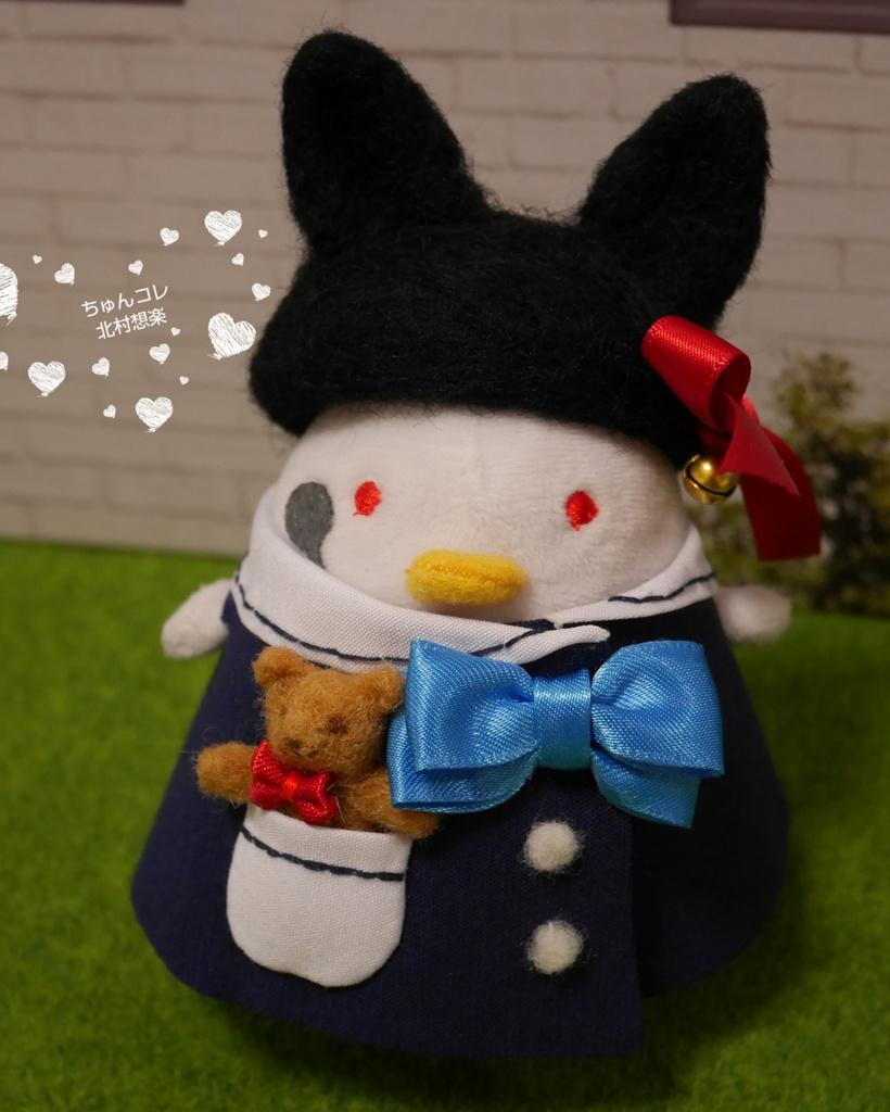 黒猫ベレー帽(L)
