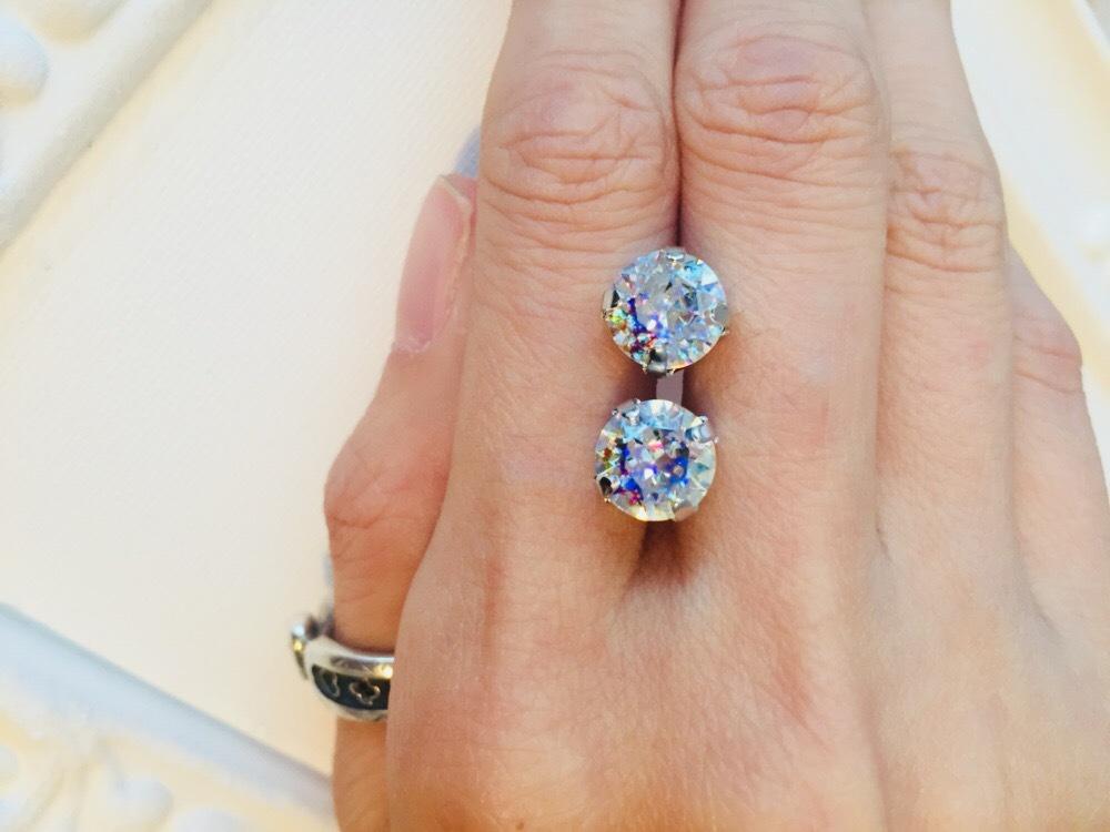 宝石の国ダイヤイメージ耳飾り
