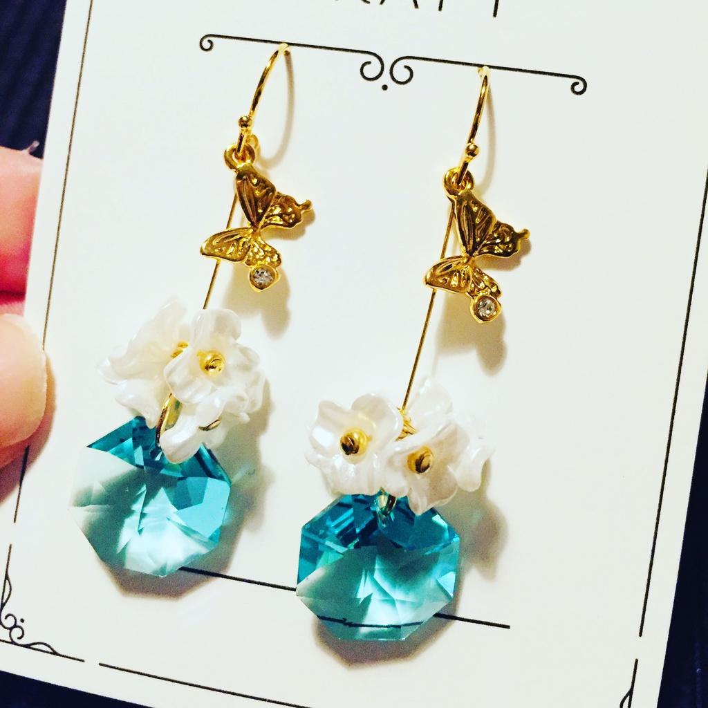 宝石の国春のフォスフォフィライトイメージ耳飾り