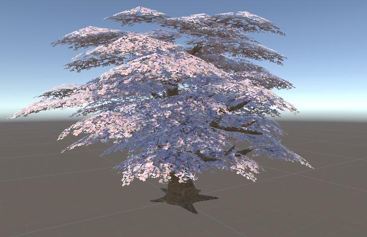 VRchat向けの桜の木