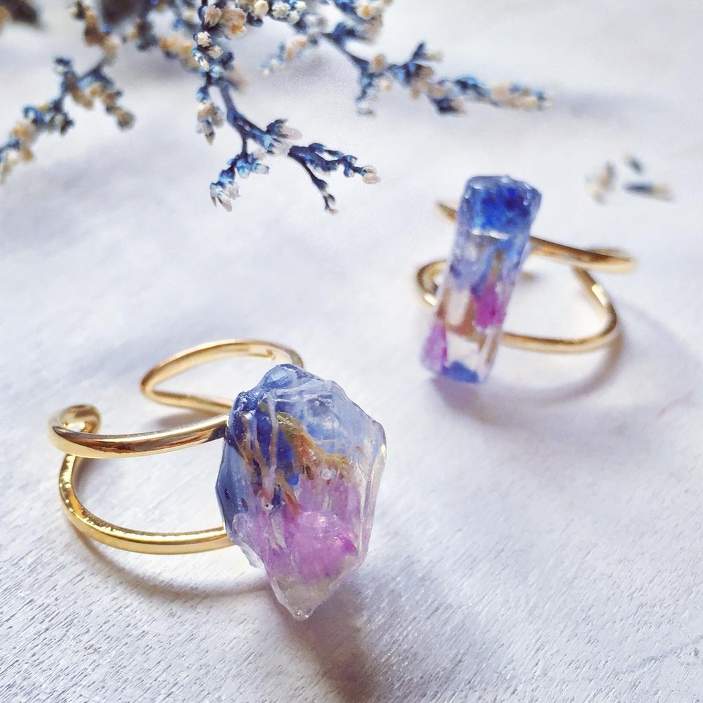 【再々販】Matsuno gemstone 鉱物モチーフリング