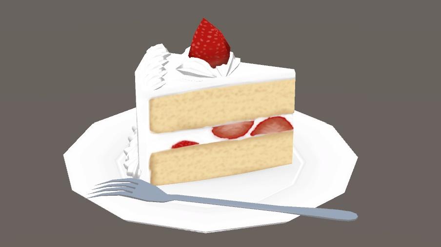 ショートケーキ 3Dモデル