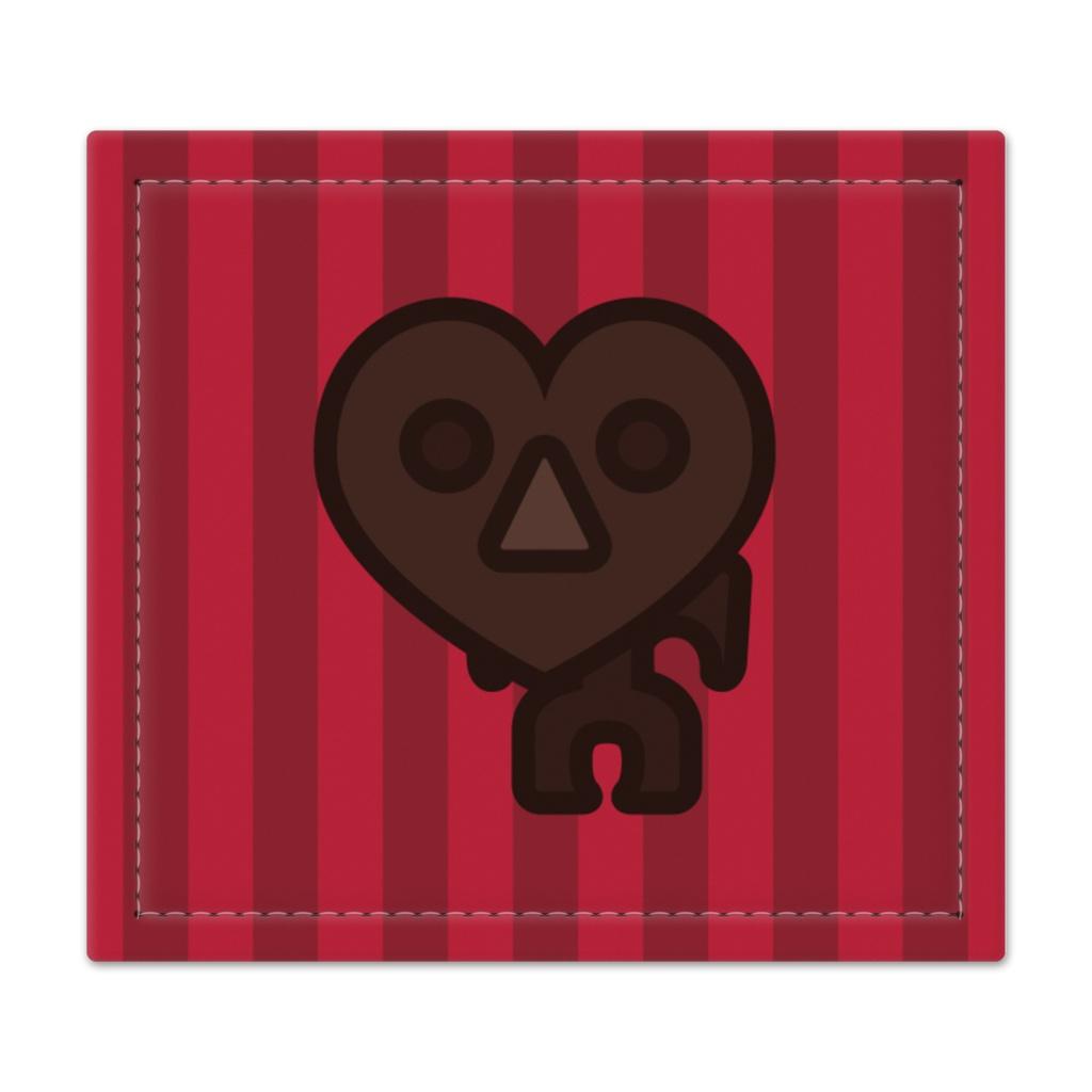 ハート型チョコ土偶捺印マット