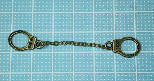 ミニ手錠(アンティークゴールド)