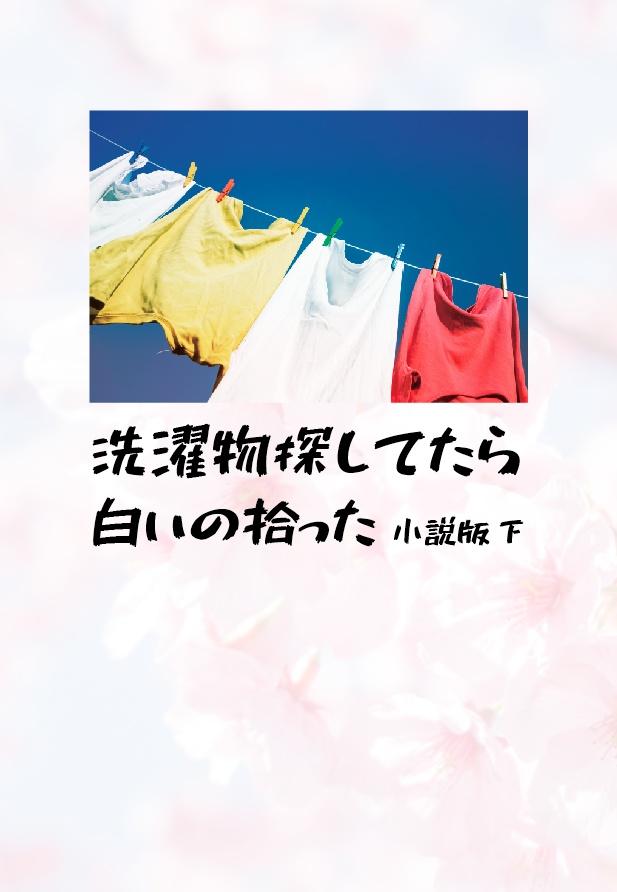 【夏コミ新刊】洗濯物探してたら白いの拾った 小説版 下【予約受付】