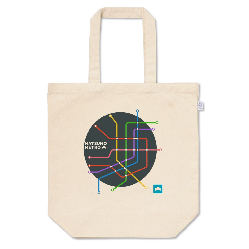 【二次創作】おそ松さん路線図イメージトートバッグ