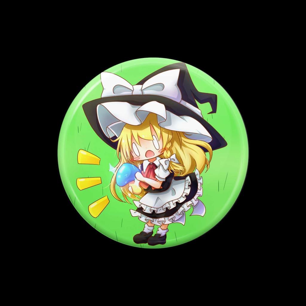 【3個限定】 魔理沙 缶バッジ(ポストカード付)