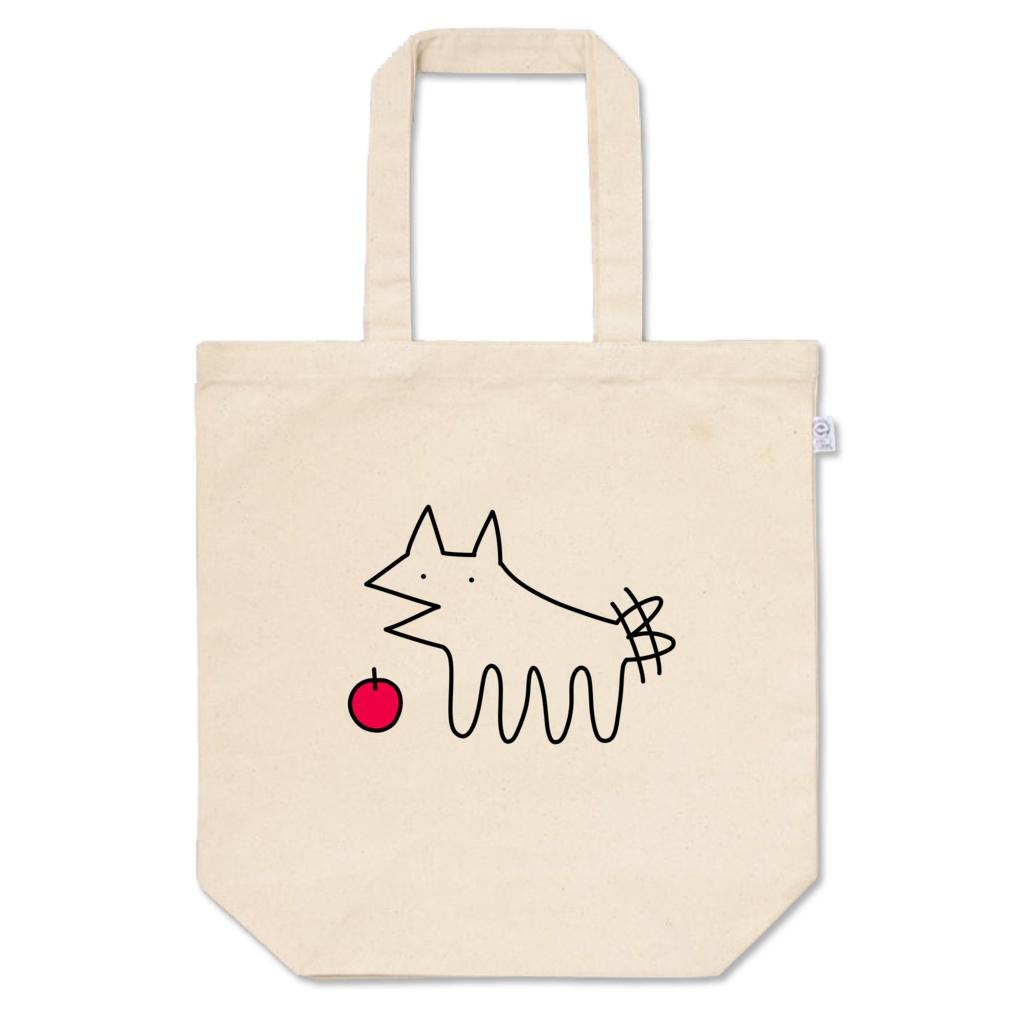 犬とりんごのトート