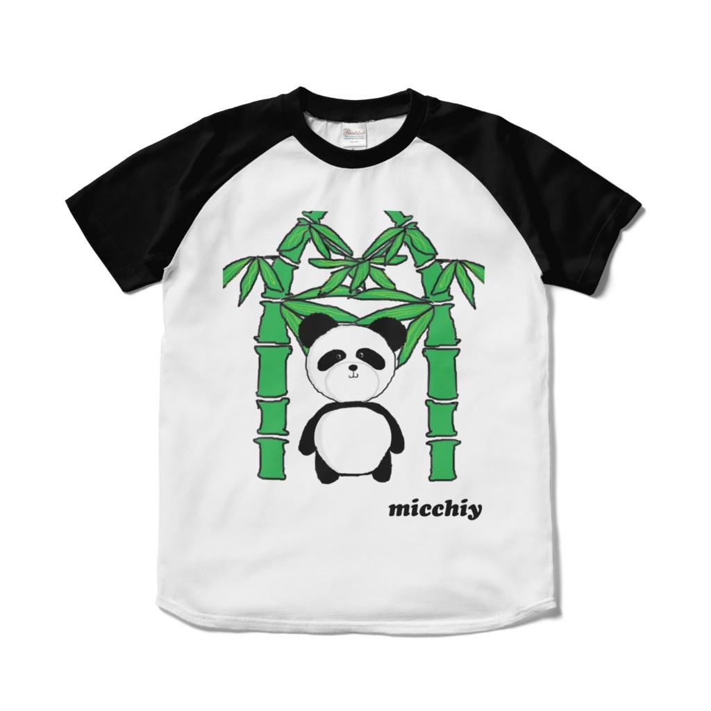 半袖Tシャツ バイカラー白黒 パンダ 13517242