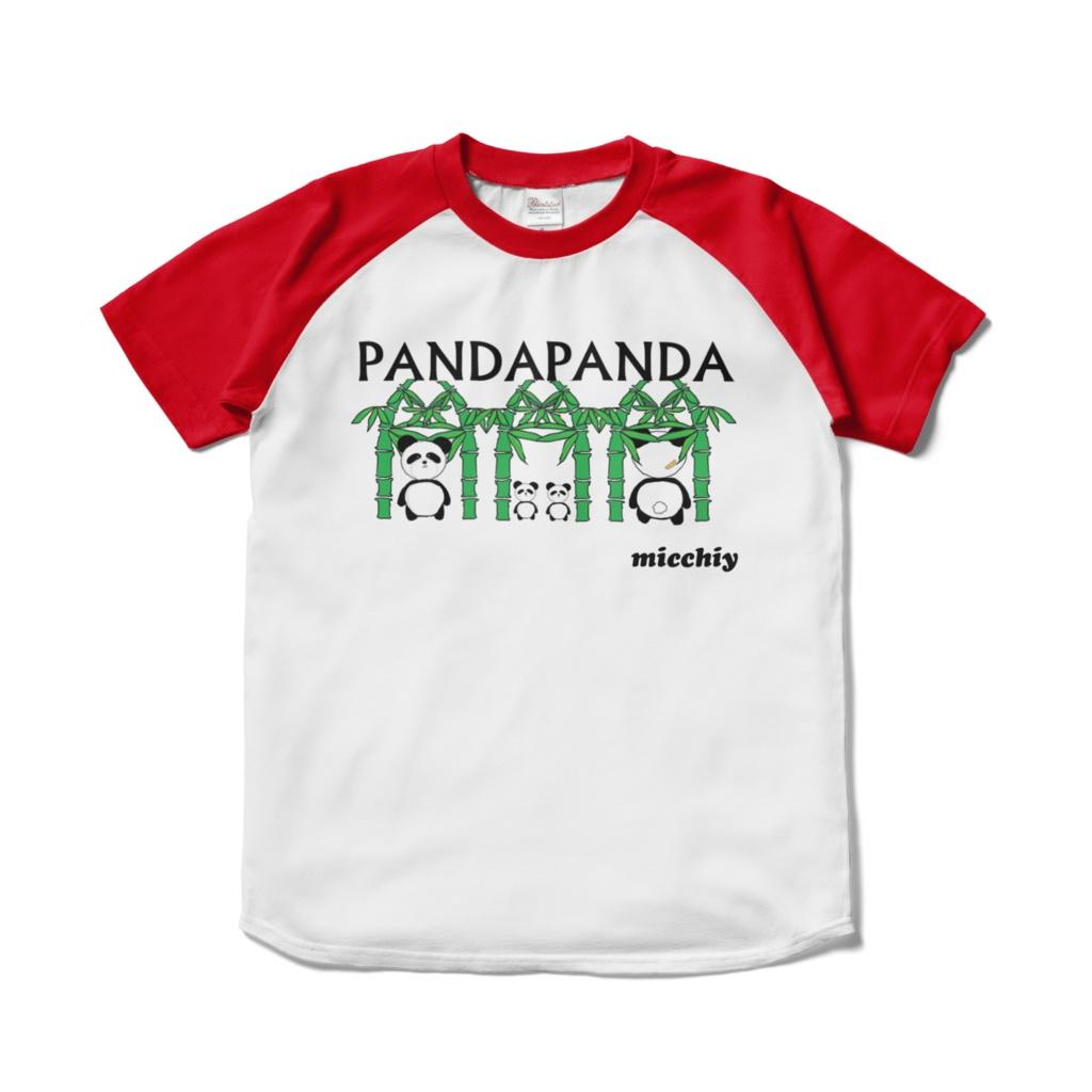 半袖Tシャツラグラン 赤白ツートンパンダ柄 13517325