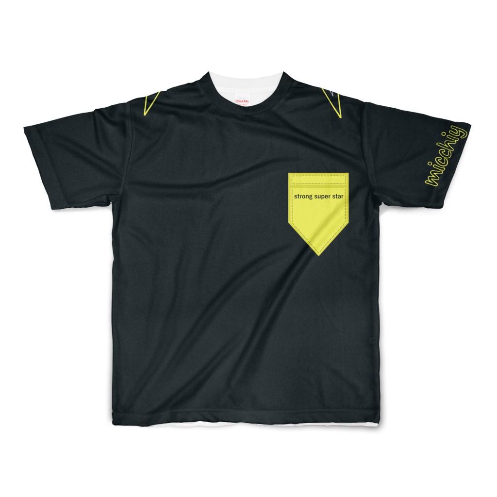 半袖Tシャツ ブラック strong super star 13871053