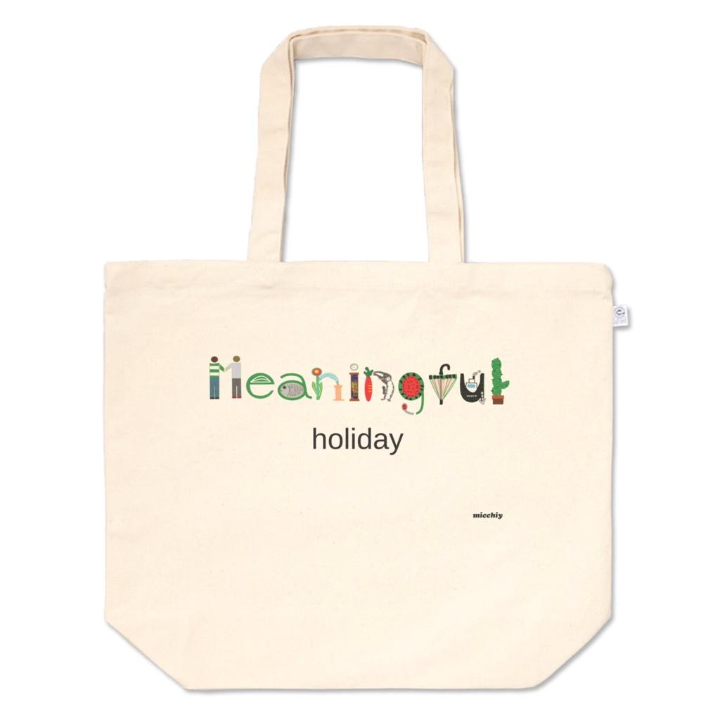 ファッショントートバッグ Meaningful holiday