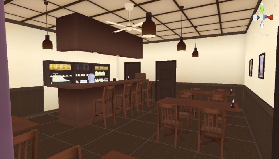 カフェ(喫茶店) 3Dモデル