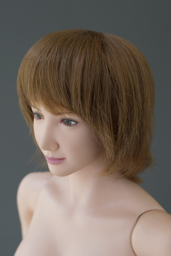 Real Wig for Head Area of 5.5 inch *Sweet Cream (Organic Brown)* (CY-006)