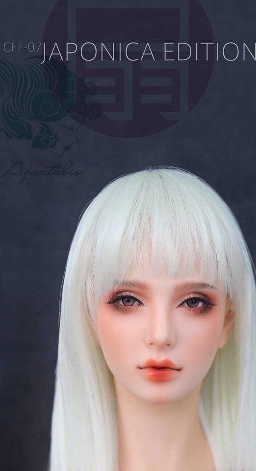 Real Wig for Head Area of 5.5 inch * Long Bob (ash white) * (CY-026)