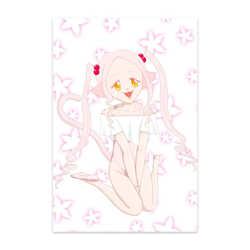 ロリ猫ポストカード