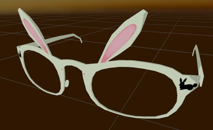 VRchat向け うさ耳眼鏡