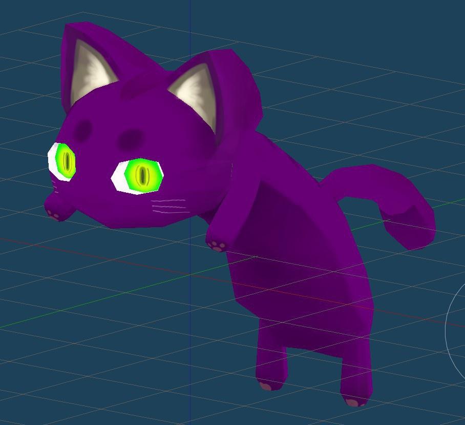 VRChat向けアクセサリ 猫のたれ帽子