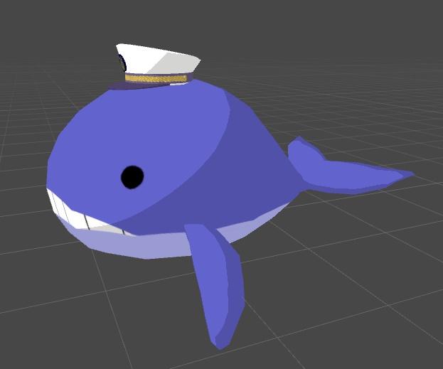 VRChat向け 水兵クジラ帽子