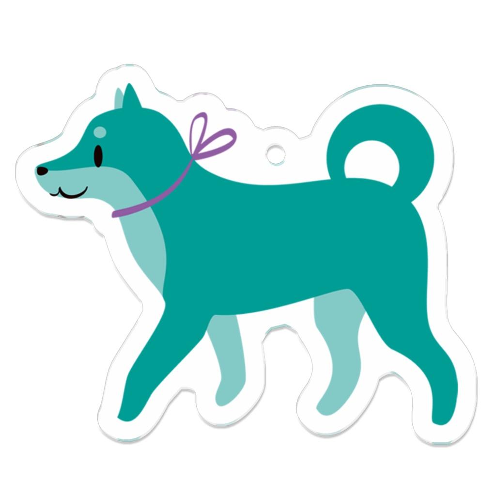 グリーンの柴犬 アクキー