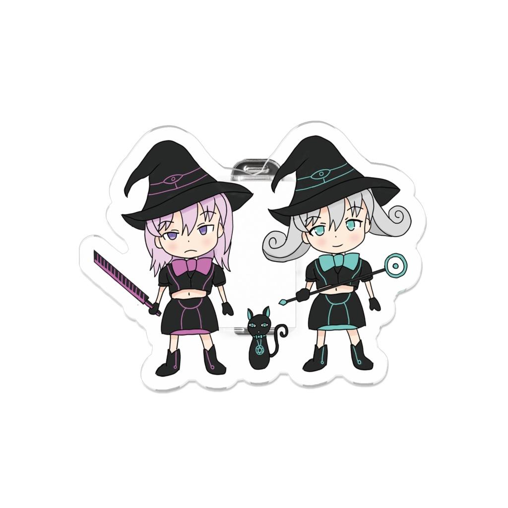 Black Witch Meeting Magic Girl  ブラックウィッチ集合ミニ 魔法少女 アクリルバッジ