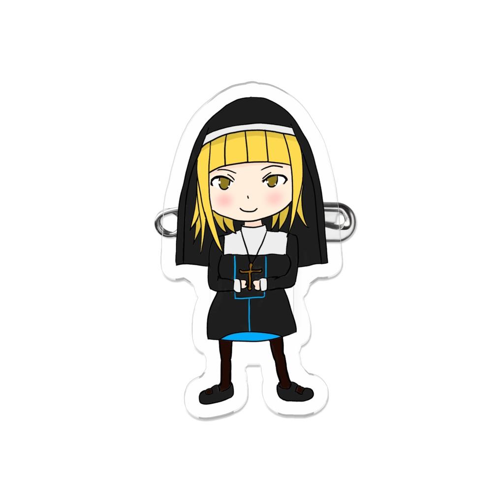 Black Sister Mini Character ブラックシスターミニキャラ アクリルバッジ