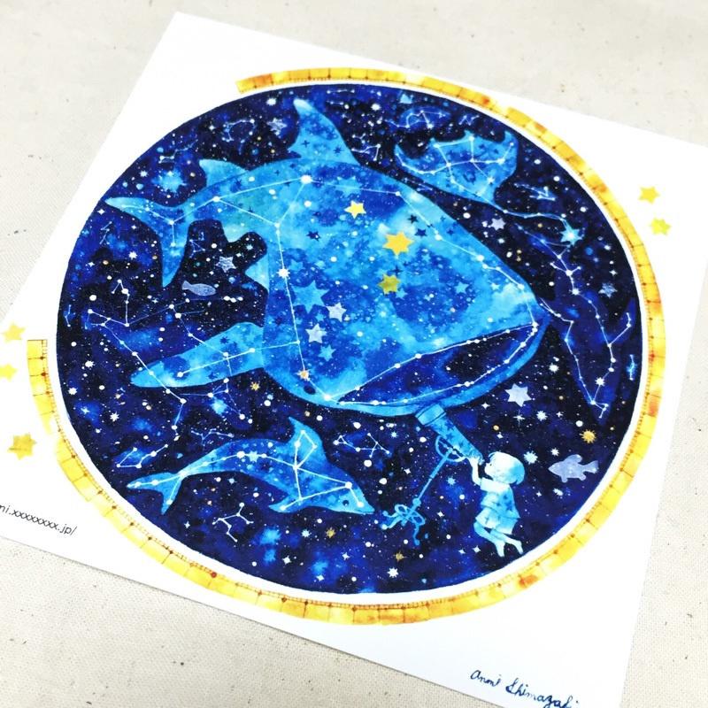 イラストカード天体アクアリウム Anzunomi Booth