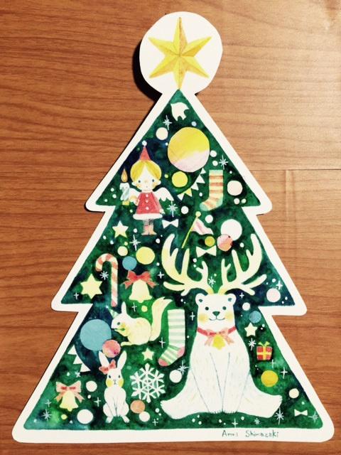 イラストカード(Christmas tree)