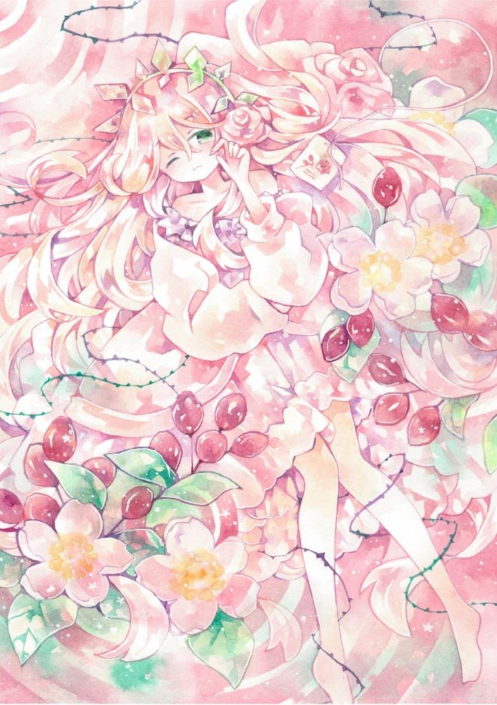 【ポストカード】眠り姫のローズヒップティー