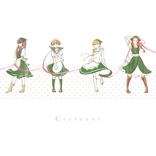 crescent イラストポストカード6種