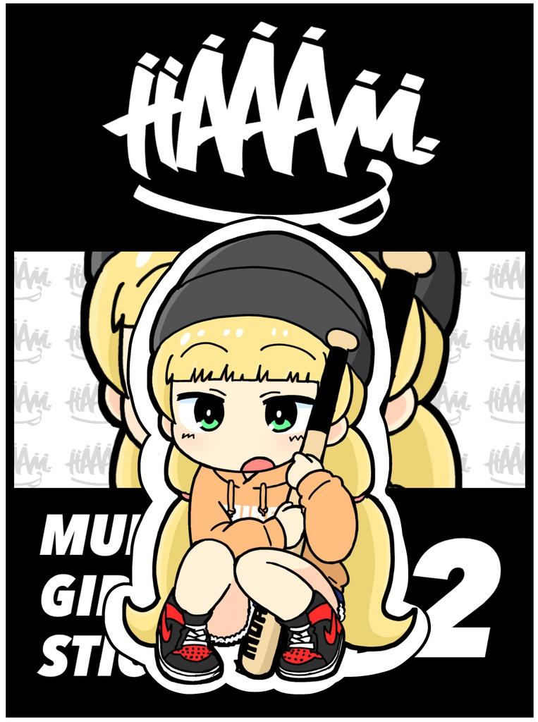 MUHA68 GIRLS STICKER 02