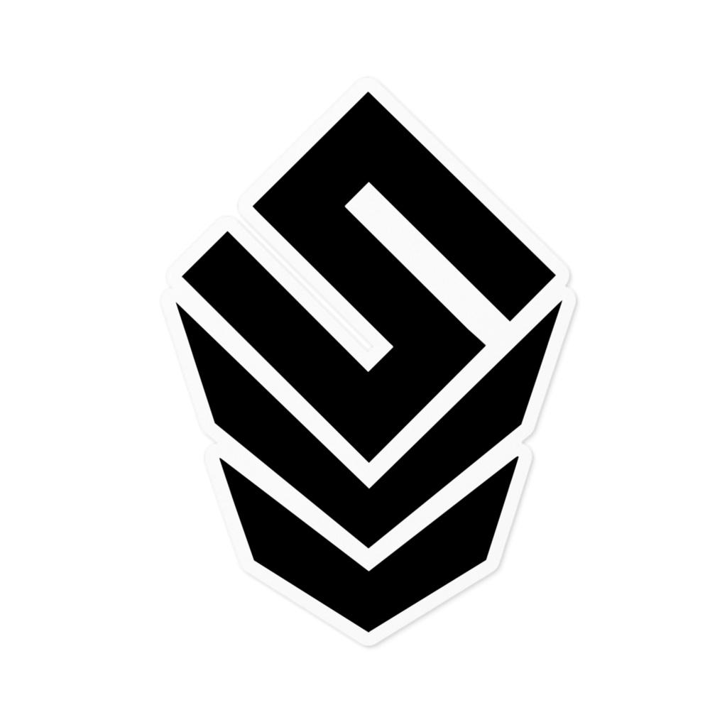 ベーシックロゴステッカー - 下地ホワイト【Basic Logo sticker - White Base】