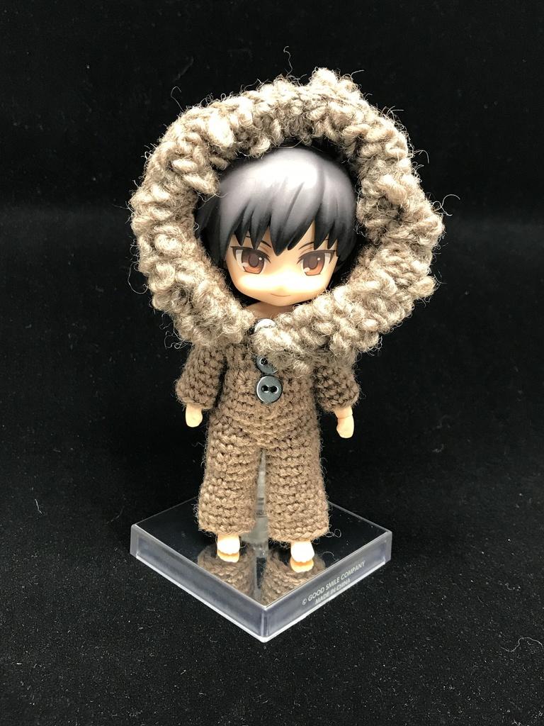 手編みのくま耳着ぐるみスーツ
