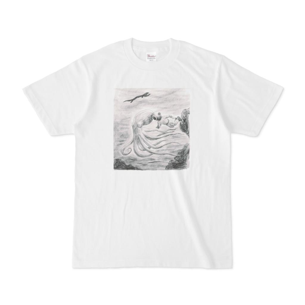 Tシャツ「タコに連れて行かれていかれる人」べつやくれい