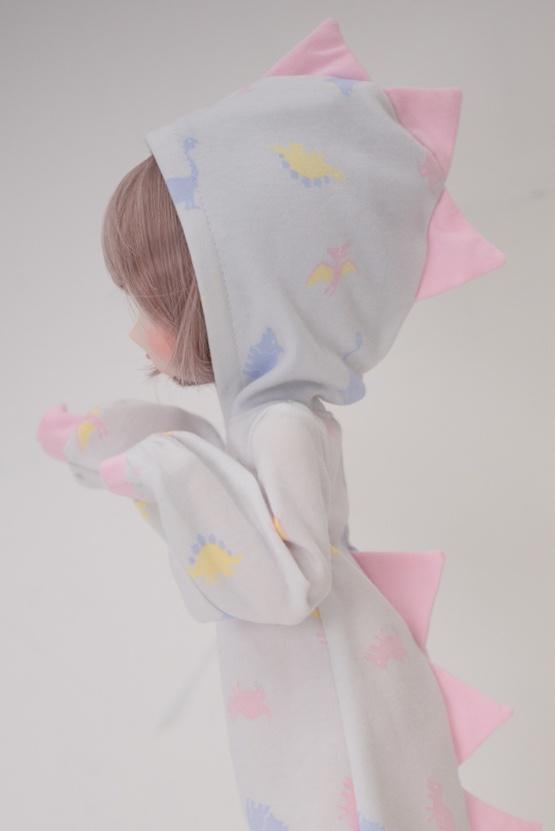 【ピンク】きょうりゅうなりきりワンピ