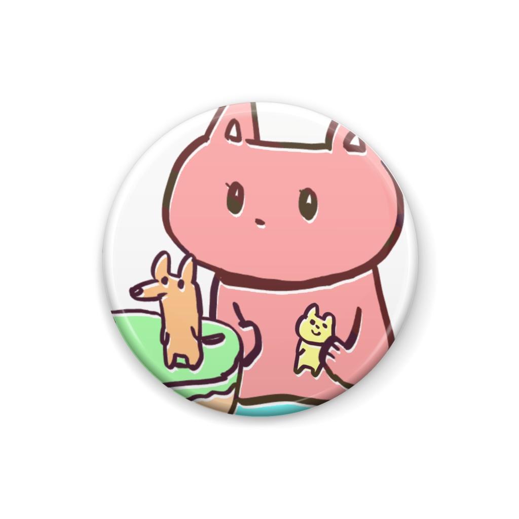 猫と犬の缶バッジ
