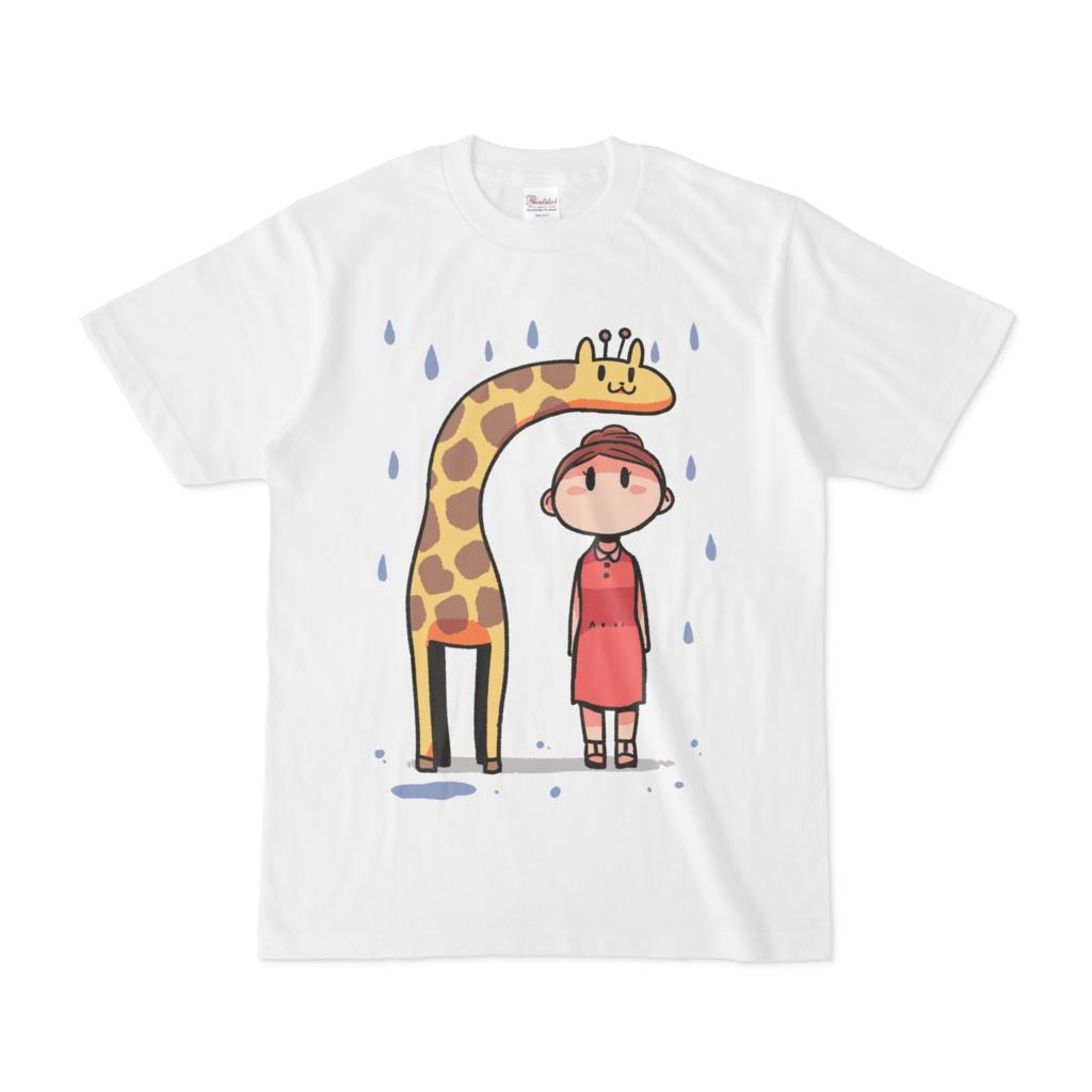 雨のキリンTシャツ