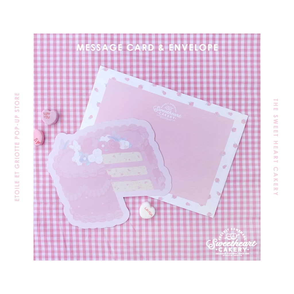 PINK GARDEN CAKE封筒つきカード