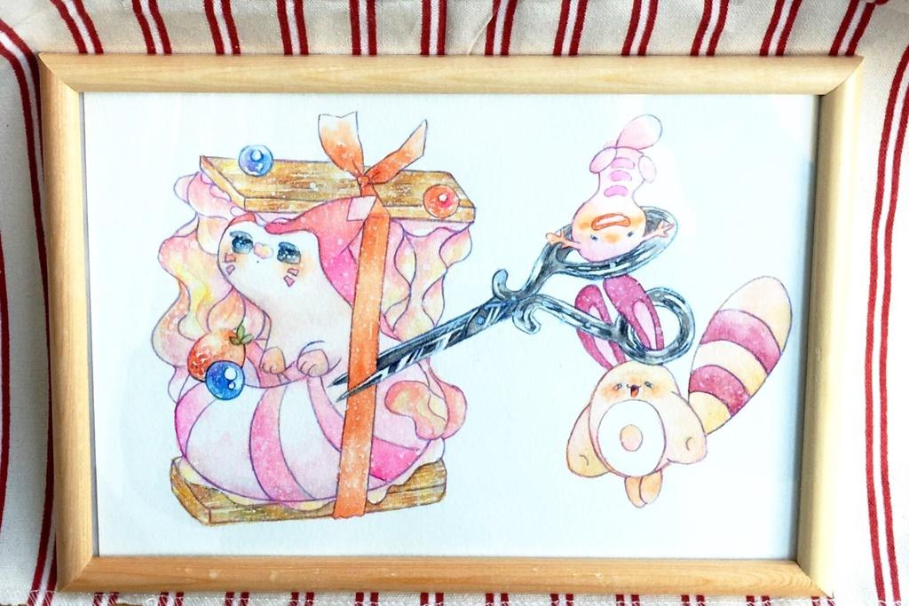 ピンクな子たち(原画)